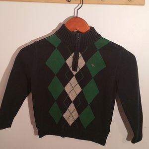 Tommy Hilfiger Boys Size 5 Blue Green Sweater